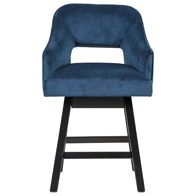 Contemporary Upholstered Swivel Bar Stool