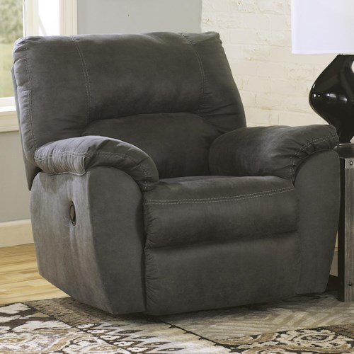 Signature Design by Ashley Tambo - Pewter Casual Contemporary Rocker Recliner