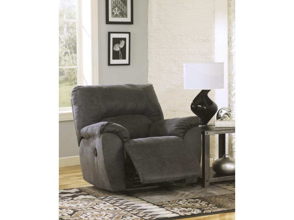 Signature Design by Ashley Tambo - PewterRocker Recliner