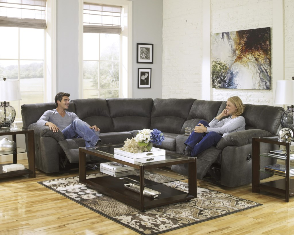 Tambo Pewter 2 Piece Reclining Corner Sectional With Center