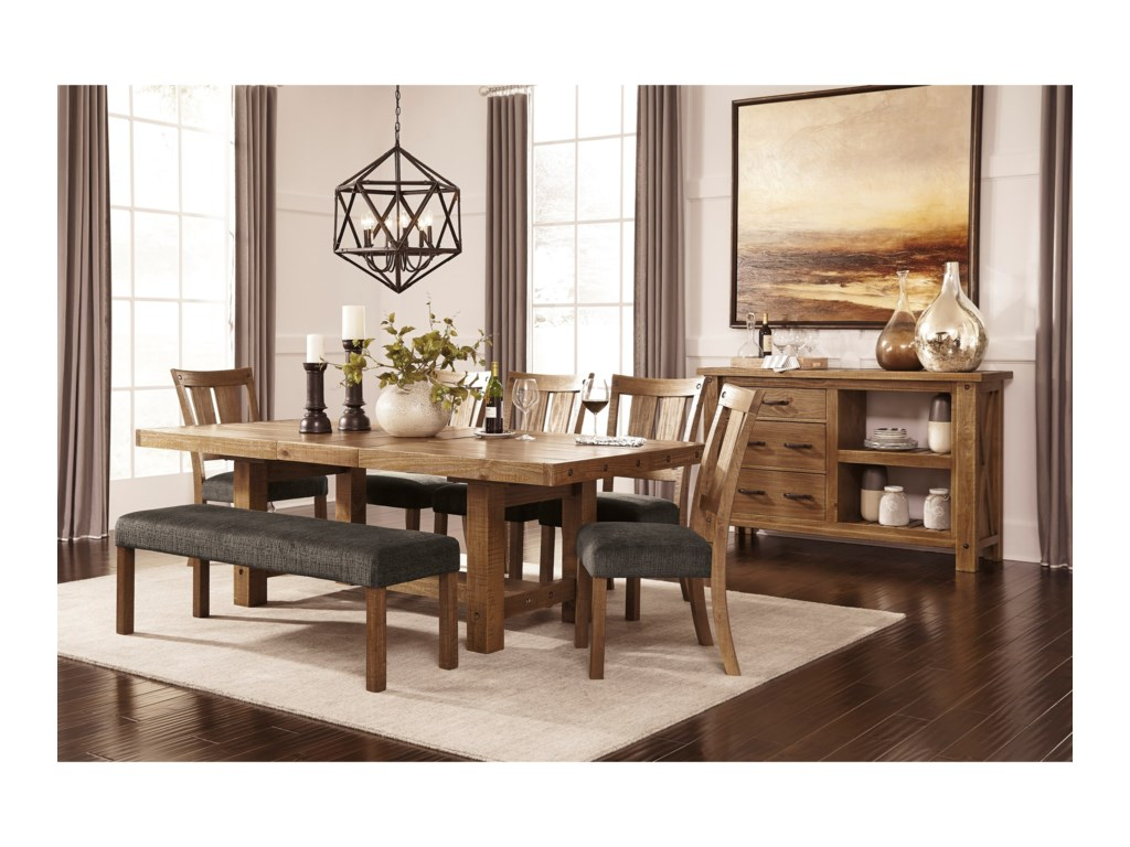 Signature Design by Ashley TamiloLarge Upholstered Dining Room Bench