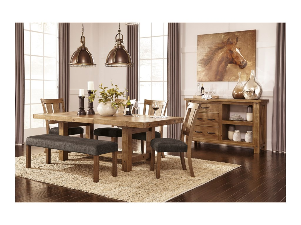 Signature Design by Ashley Tamilo6 Piece Table & Chair Set with Bench