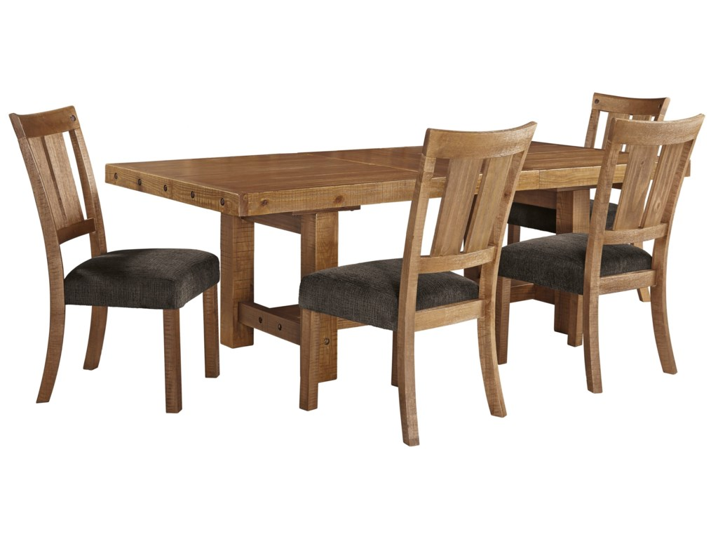 Signature Design by Ashley Tamilo5 Piece Table & Chair Set with Leaf