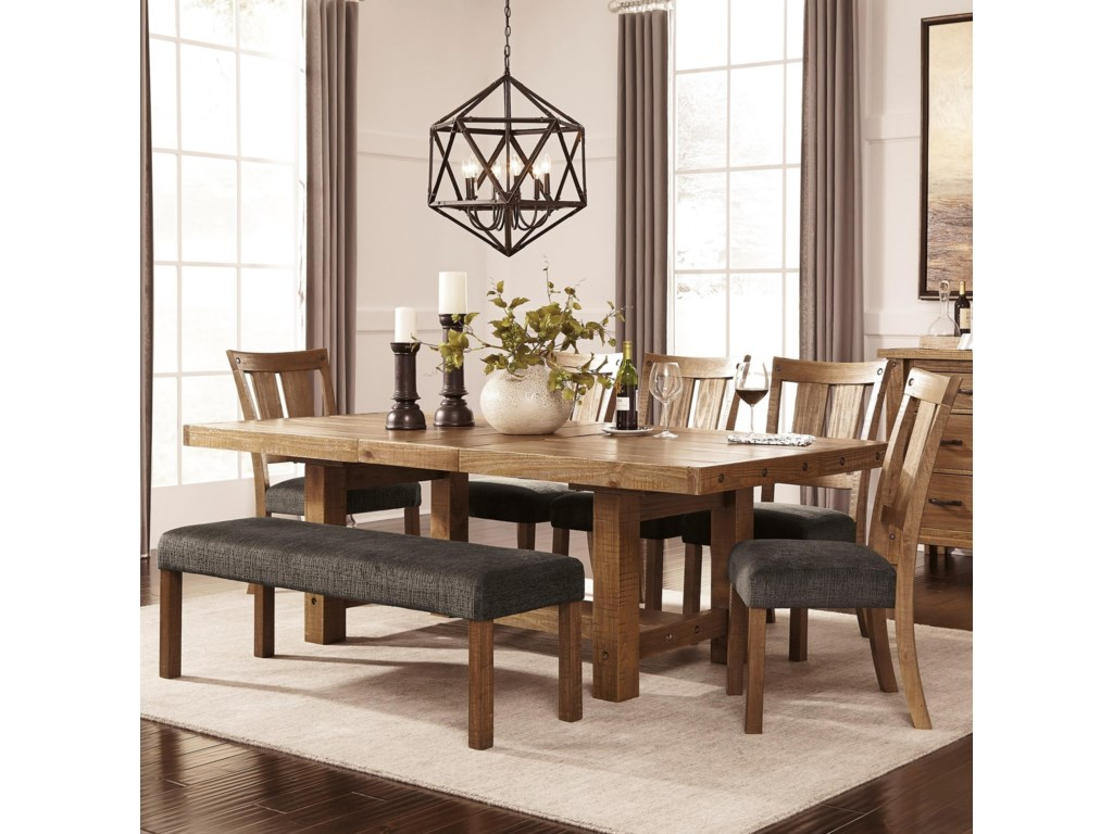 Signature Design by Ashley Tamilo7 Piece Table & Chair Set with Bench