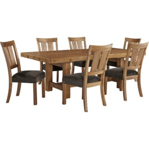 Signature Design By Ashley Tamilo 7 Piece Table Amp Chair Set With Leaf Suburban Furniture