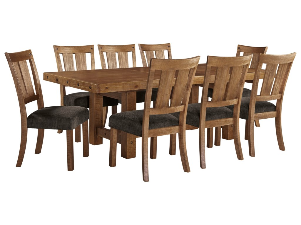 Ashley (Signature Design) Tamilo9 Piece Table & Chair Set with Leaf