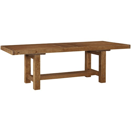 Signature Design By Ashley Tamilo Rectangle Dining Room Table With - Oblong dining table with leaf