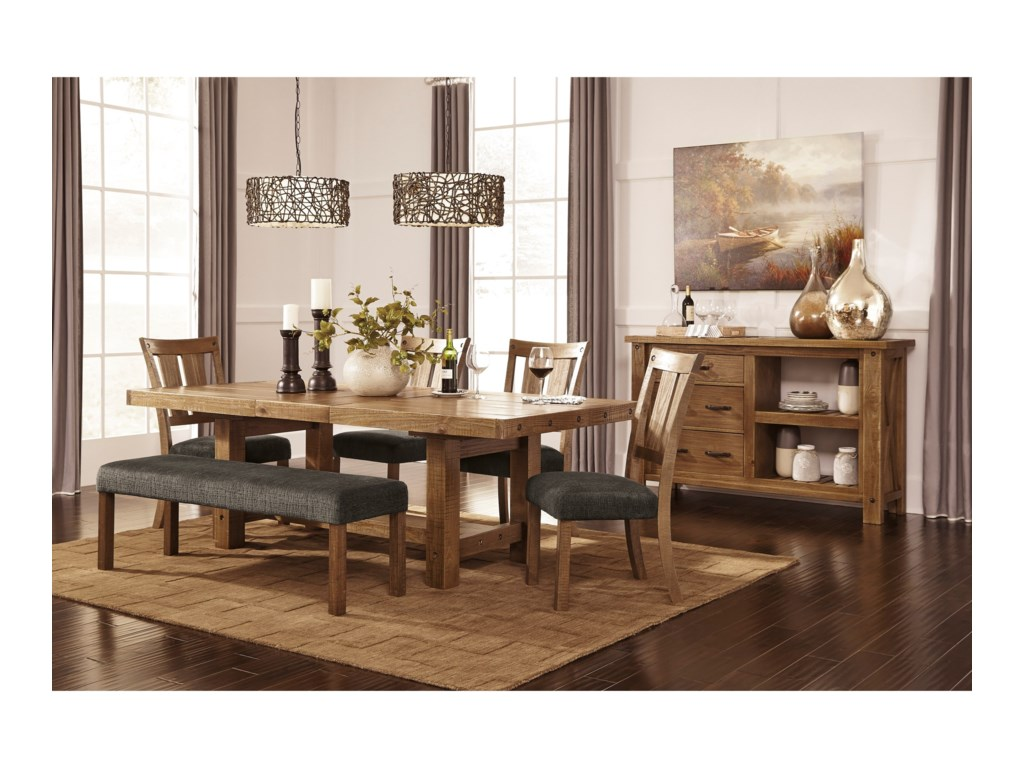 Signature Design by Ashley Tamilo D714-45 Rectangle Dining Room ...