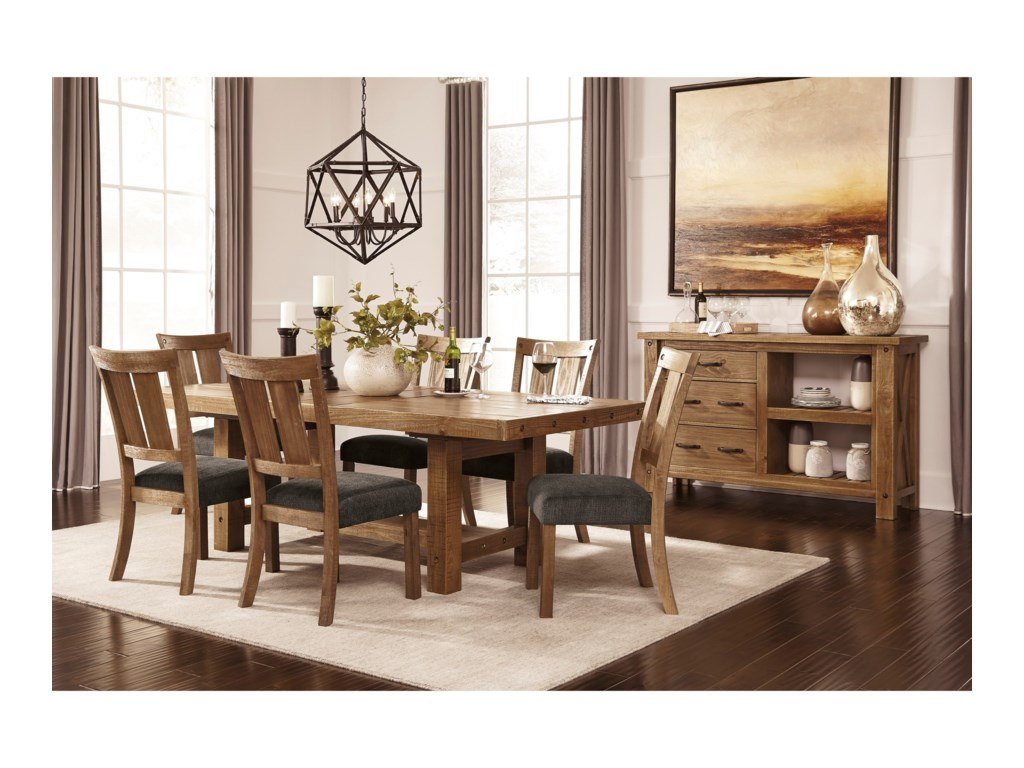 Signature Design by Ashley Tamilo Dining Room Server with Two ...