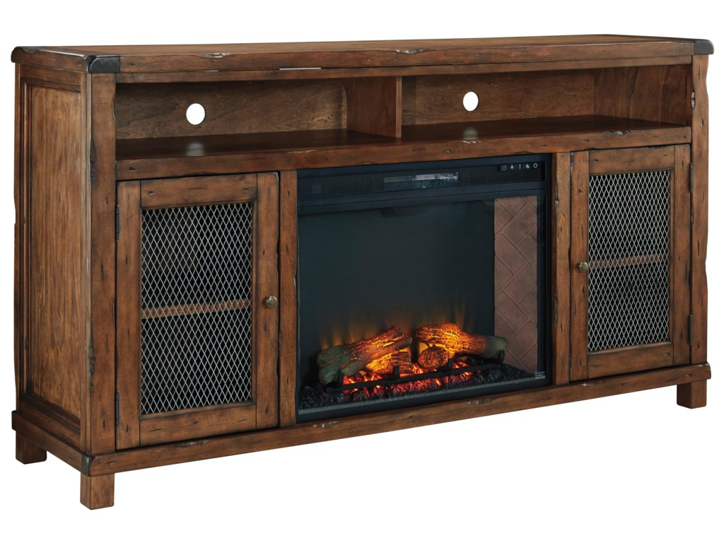 Signature Design by Ashley TamonieXL TV Stand with Electric Fireplace Insert
