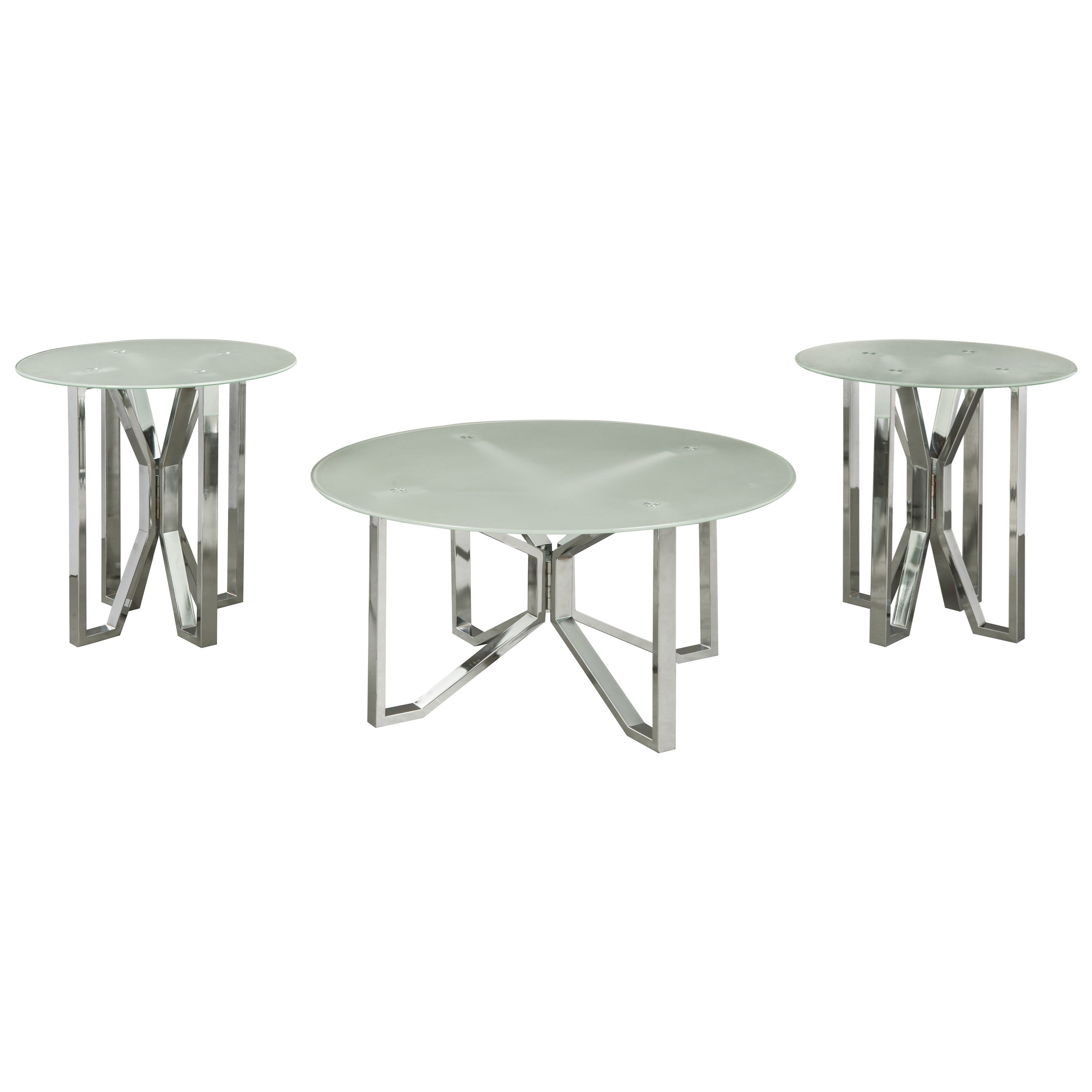 Signature Design by Ashley Tangeline3 Piece Occasional Table Set ...  sc 1 st  Royal Furniture & Signature Design by Ashley Tangeline Glam three Piece Occasional ...