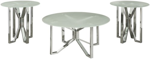 Signature Design by Ashley Tangeline Glam three Piece Occasional Table Set