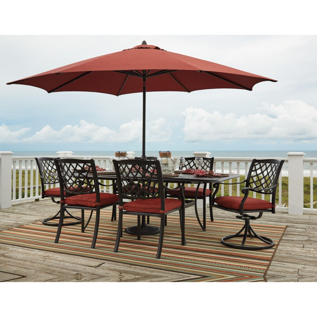 Signature Design by Ashley Tanglevale Outdoor Dining Table Set w