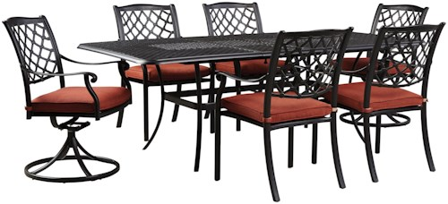 Signature Design by Ashley Tanglevale Outdoor Dining Table Set