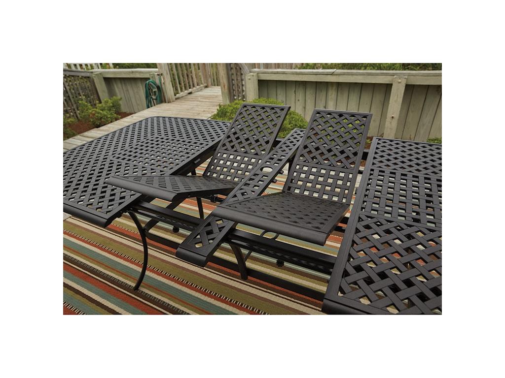 Signature TanglevaleRectangular Extension Table w/ Umbrella Opt