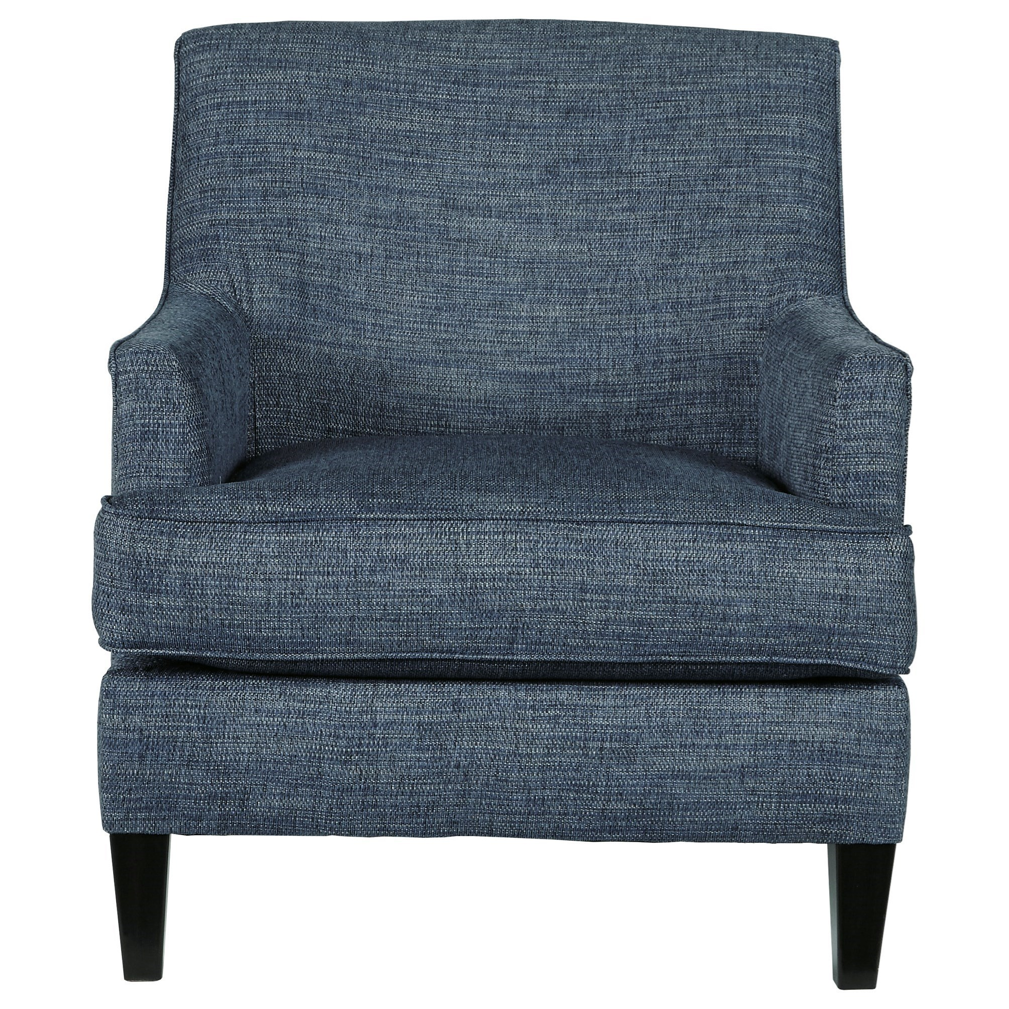 Accent Chair in Blue Fabric