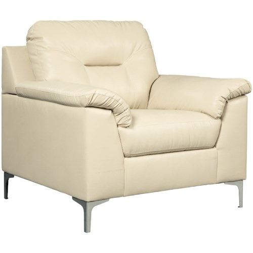 Signature Design by Ashley Tensas Contemporary Chair with Pillow Arms