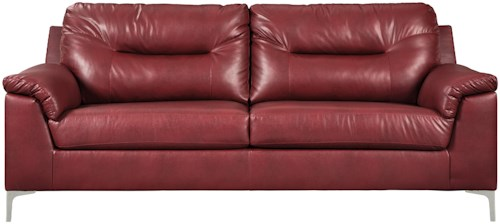 Signature Design by Ashley Tensas Contemporary Sofa with Pillow Arms