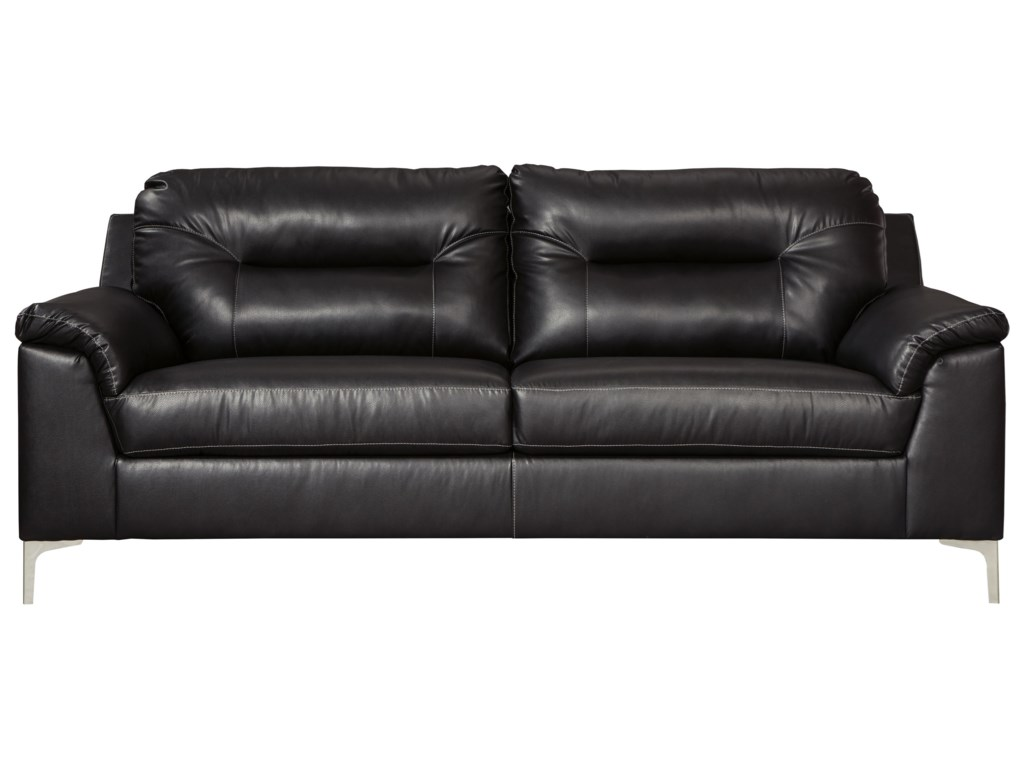 Tensas Contemporary Sofa with Pillow Arms by Signature Design by Ashley at  Furniture and ApplianceMart