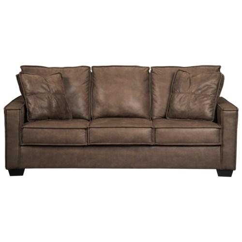 Signature Design By Ashley Terrington Faux Leather Sofa With