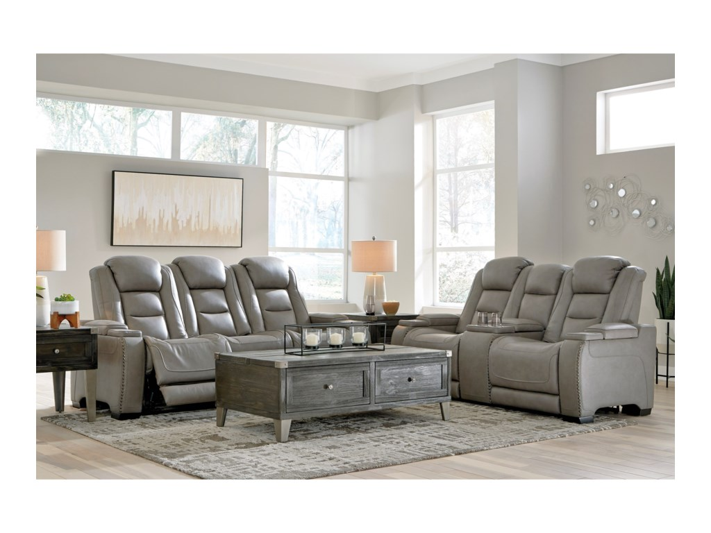 Signature Design by Ashley The Man-DenReclining Living Room Group