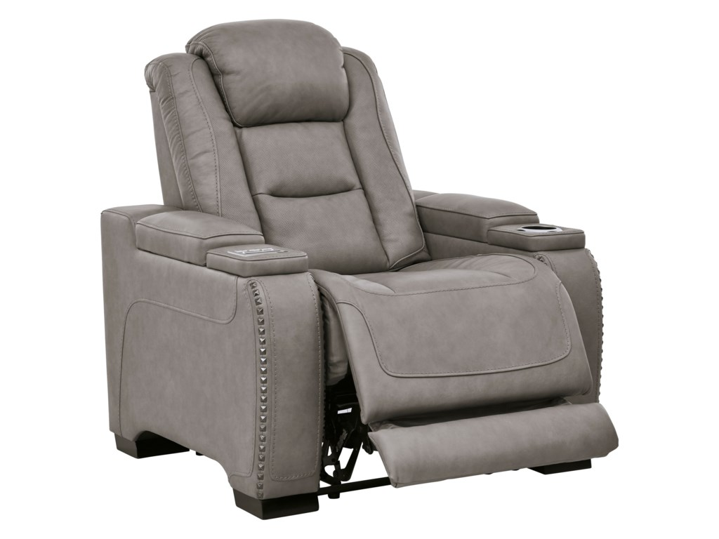 Signature Design by Ashley The Man-DenPower Recliner with Adjustable Headrest