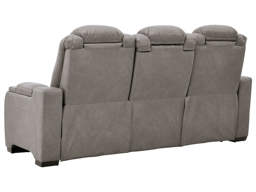 Signature Design by Ashley The Man-DenPower Reclining Sofa with Adjustable HR