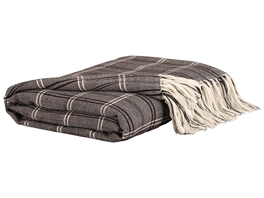 Signature Design by Ashley ThrowsLuis - Black/Beige Throw