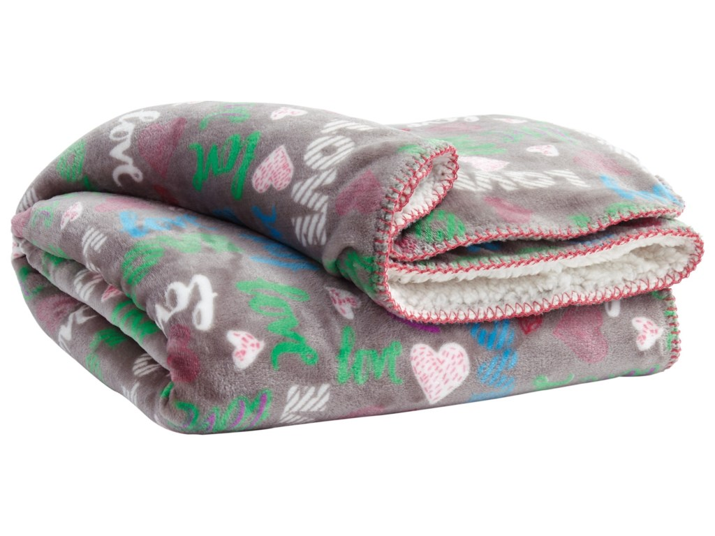 Signature Design by Ashley ThrowsClarisse Gray/Multicolor Throw