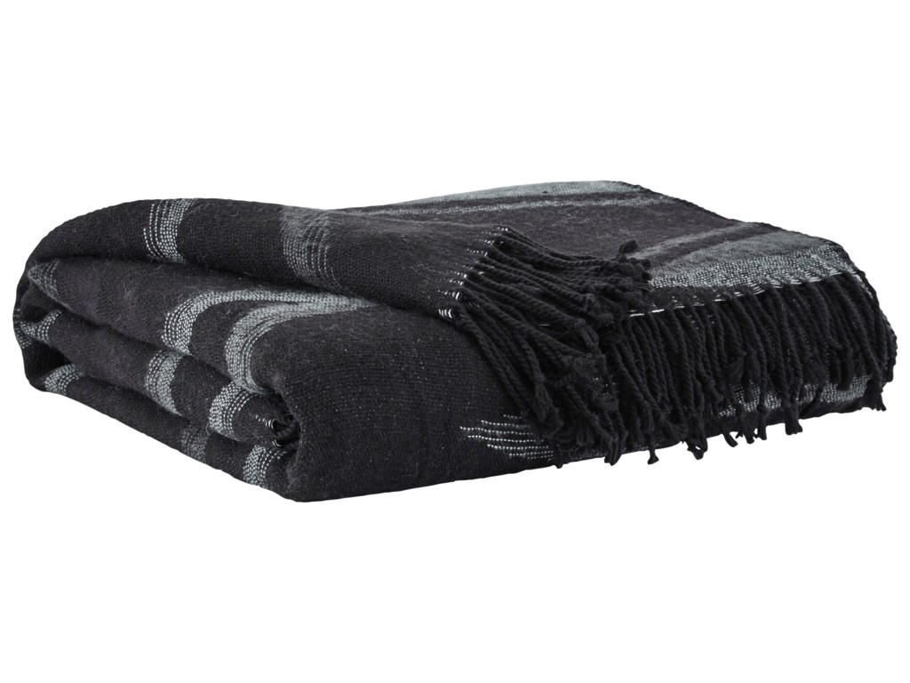 Signature Design by Ashley ThrowsCecile Black Throw