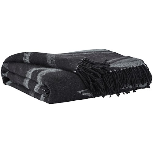 Signature Design by Ashley Throws Cecile Black Throw
