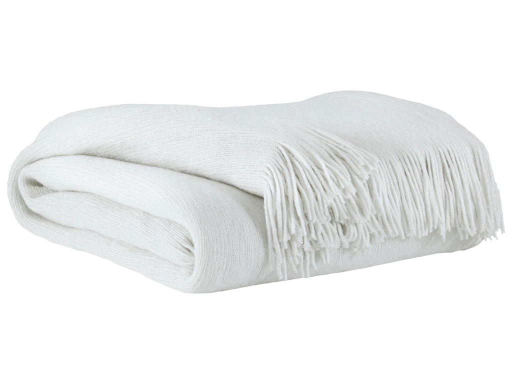 Signature Design by Ashley ThrowsRozelle White Throw