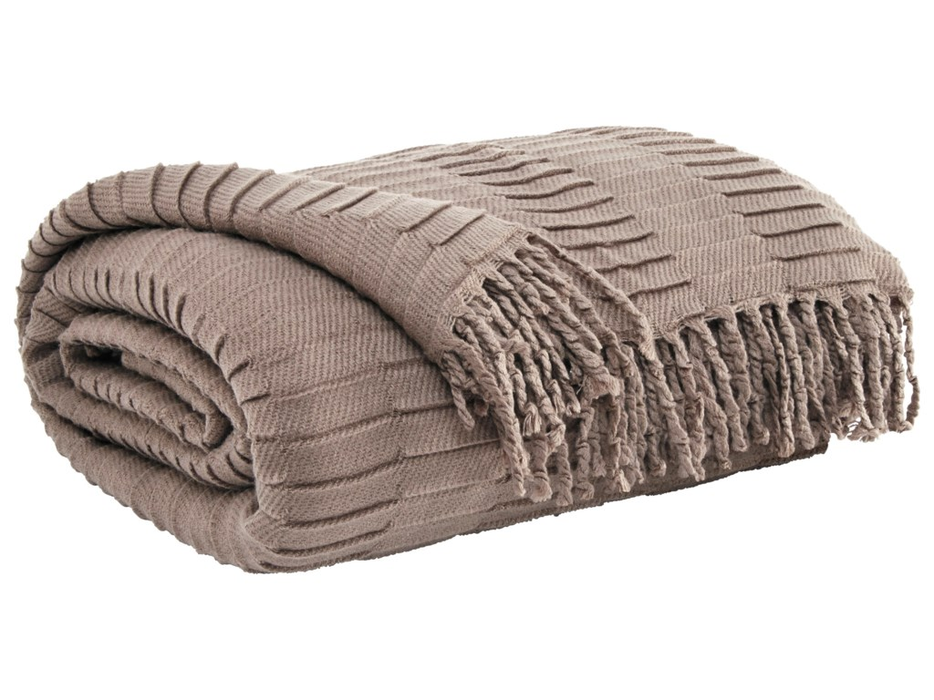 Ashley (Signature Design) ThrowsMendez - Taupe Throw