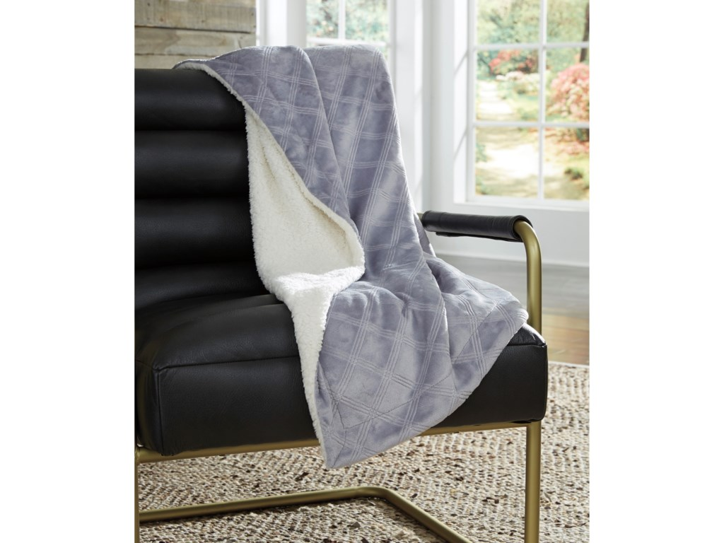 Rooms Collection Three ThrowsAsaka Gray Throw
