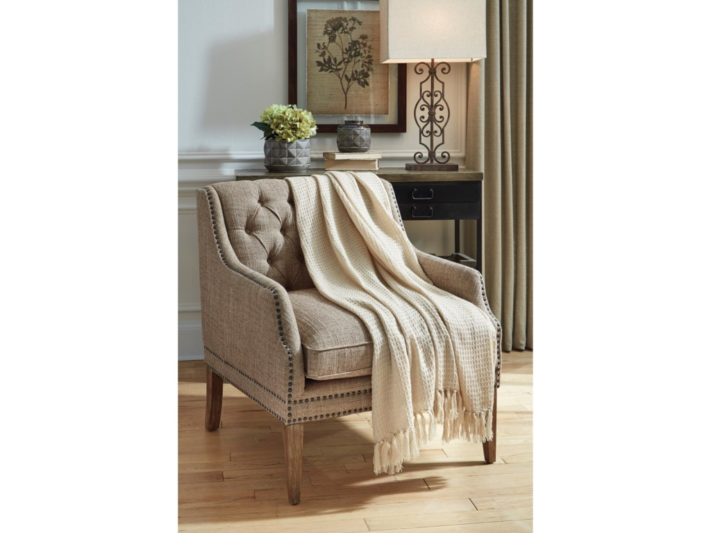 Signature Design by Ashley ThrowsRowena Cream Throw