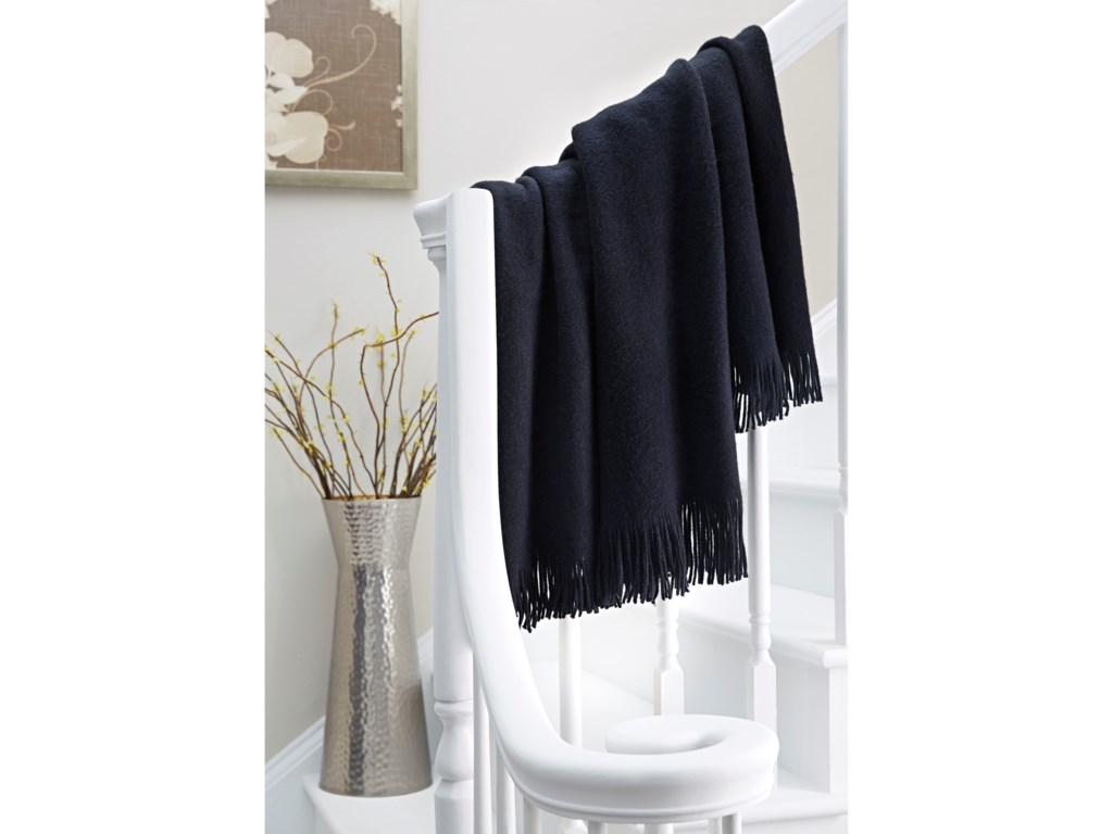 Ashley (Signature Design) ThrowsShiloh - Black Throw