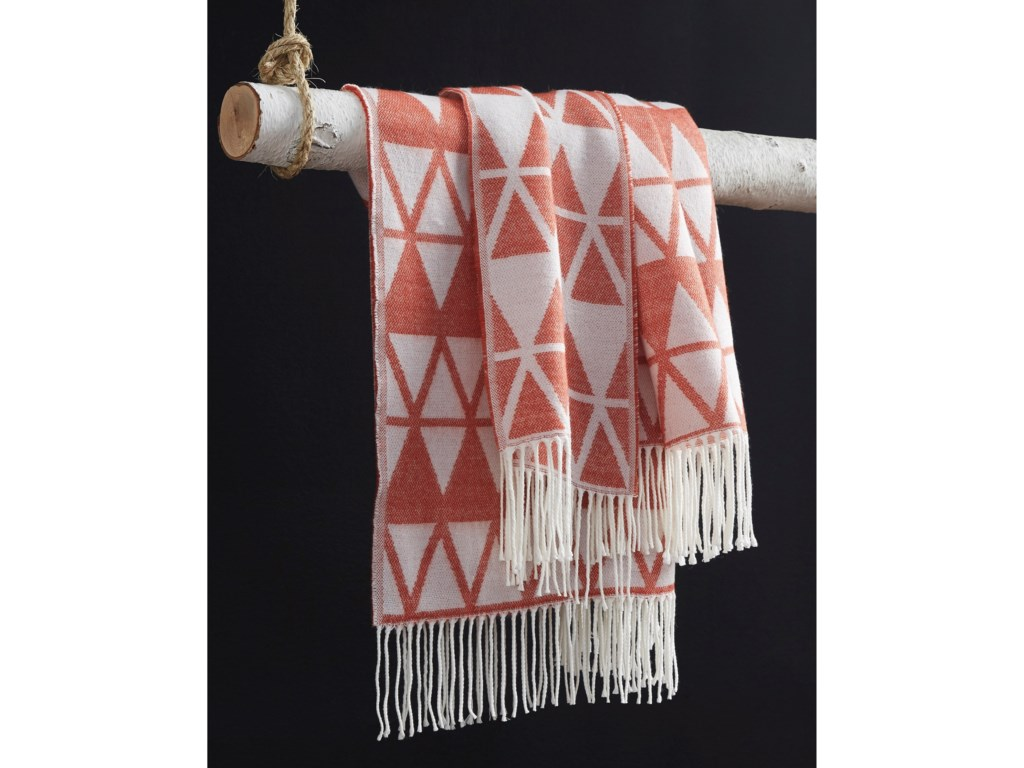 Signature Design by Ashley ThrowsNoemi - Burnt Orange Throw
