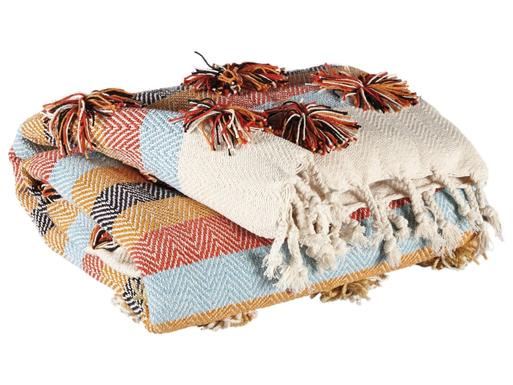 Signature Design by Ashley Throws A1000856T Jacinta Multicolor Throw ...