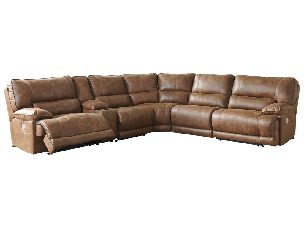 Signature Design By Ashley Thurles Power Reclining Sectional With