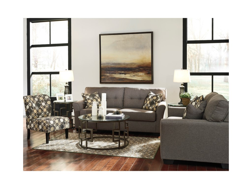 Furniture upholstery group bay city saginaw - Signature Design By Ashley Tibbee Stationary Living Room Group