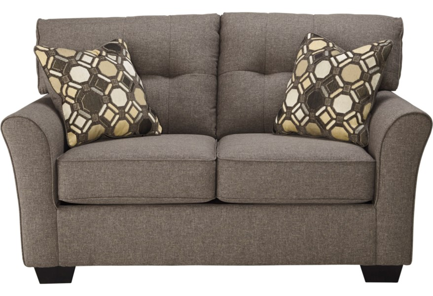 Tibbee Contemporary Loveseat with Tufted Back by Benchcraft at Virginia  Furniture Market
