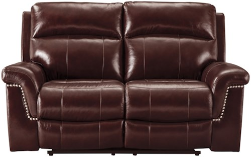 Signature Design by Ashley Timmons Casual Power Reclining Loveseat with Adjustable Headrest