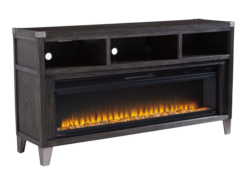 Signature Design by Ashley TodoeLarge TV Stand with Fireplace Insert