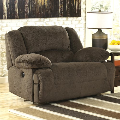 Signature Design by Ashley Toletta - Chocolate Zero Wall Wide Seat Recliner
