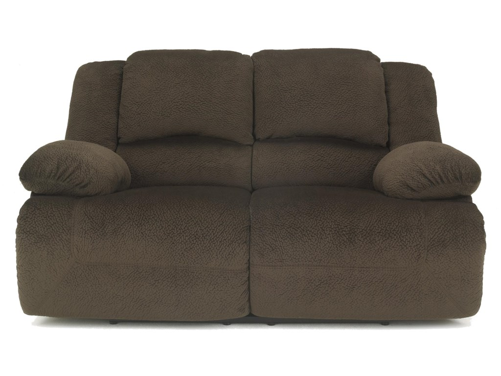 Signature Design by Ashley Toletta - ChocolateReclining Power Loveseat