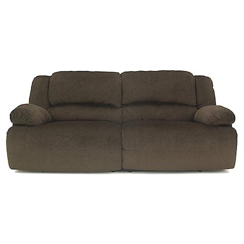Signature Design by Ashley Toletta - Chocolate Casual Contemporary 2 Seat Reclining Sofa