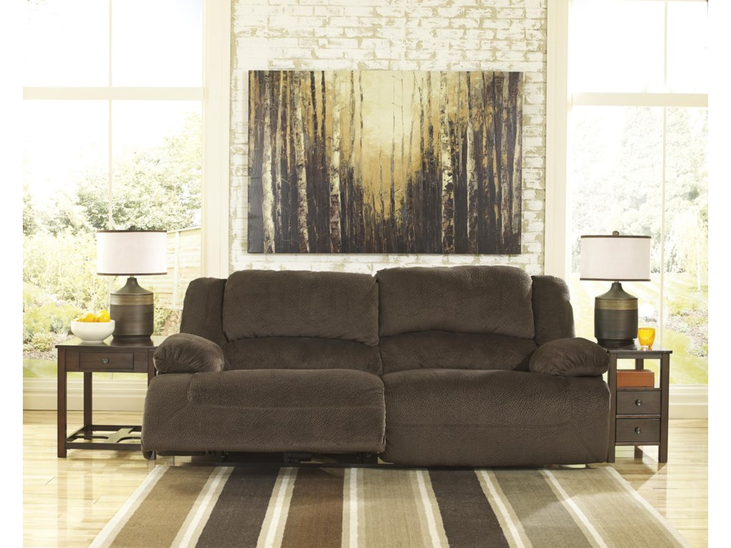 Signature Design by Ashley Toletta - Chocolate2 Seat Reclining Sofa