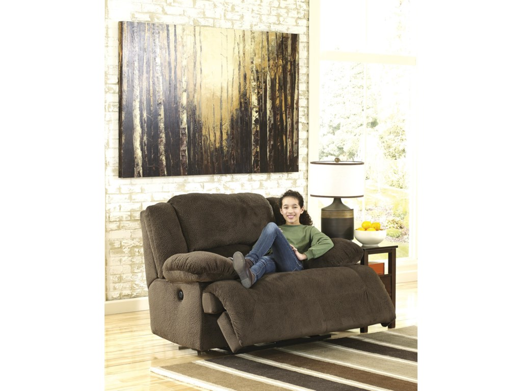 Signature Design by Ashley Toletta - ChocolateWide Seat Power Recliner