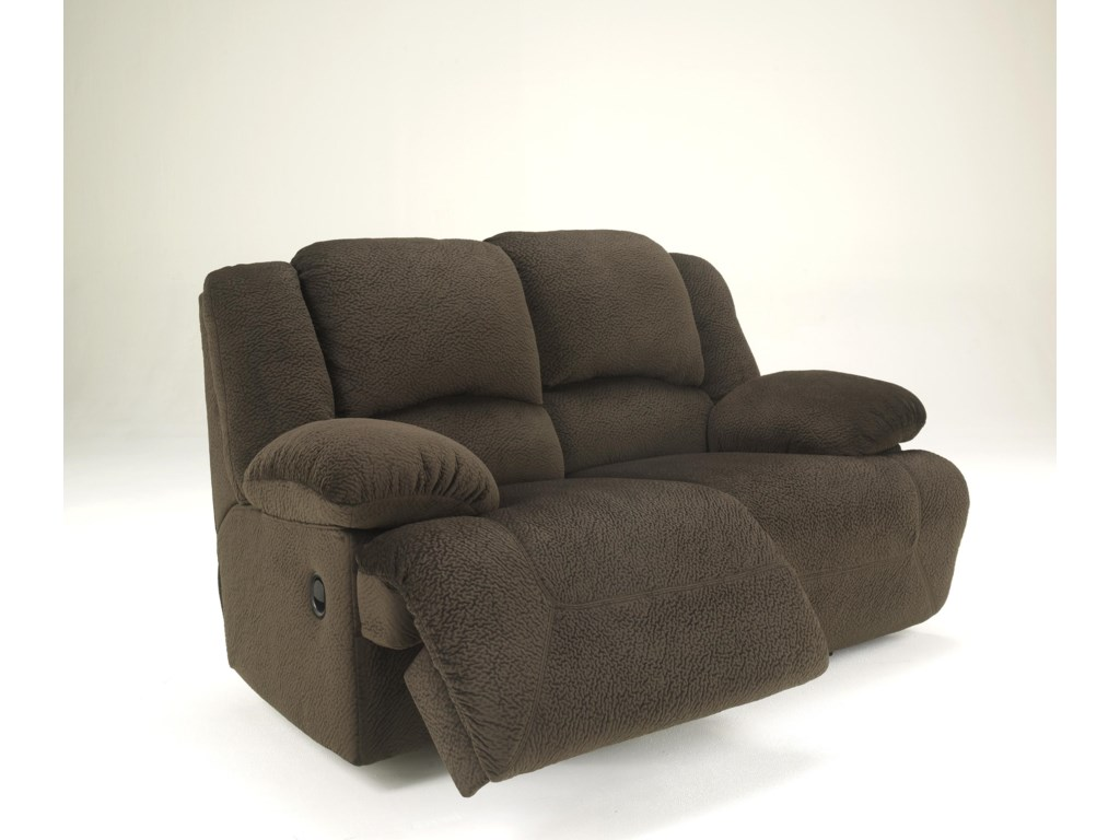 Signature Design by Ashley Toletta - ChocolateReclining Loveseat