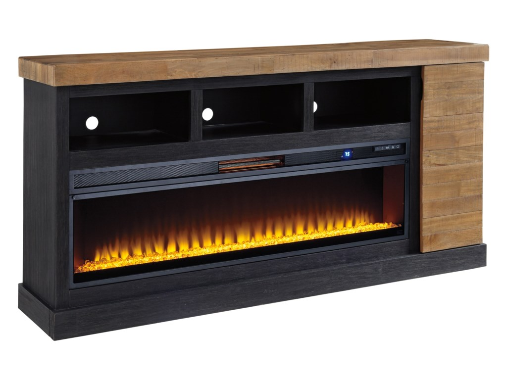 Signature Design by Ashley TonnariXL TV Stand with Fireplace